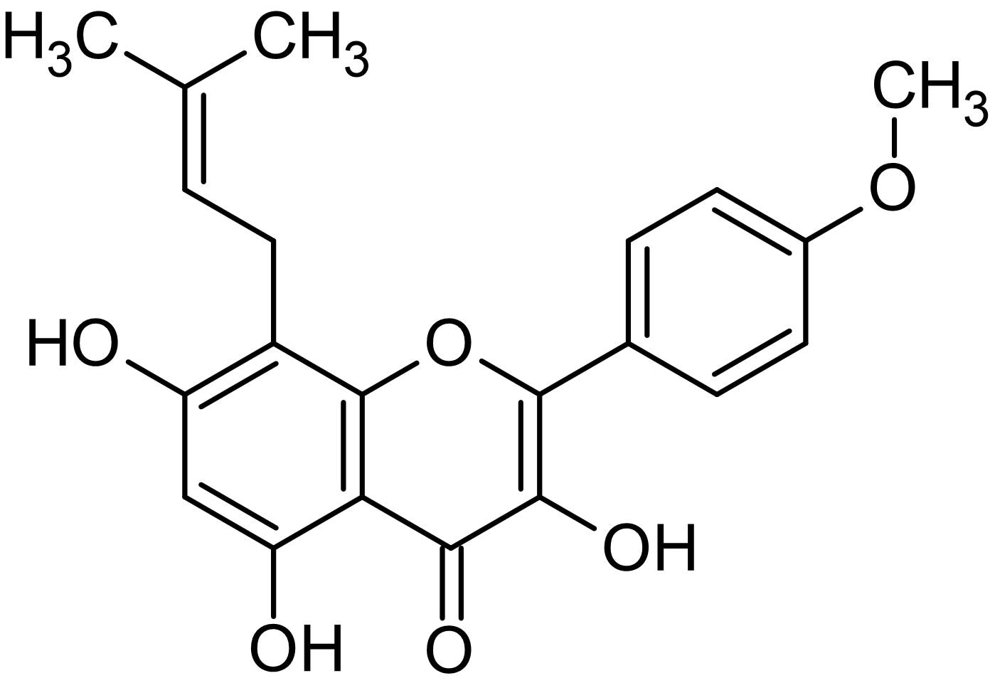 Chemical Structure - Icaritin, Antiproliferative agent (ab143645)