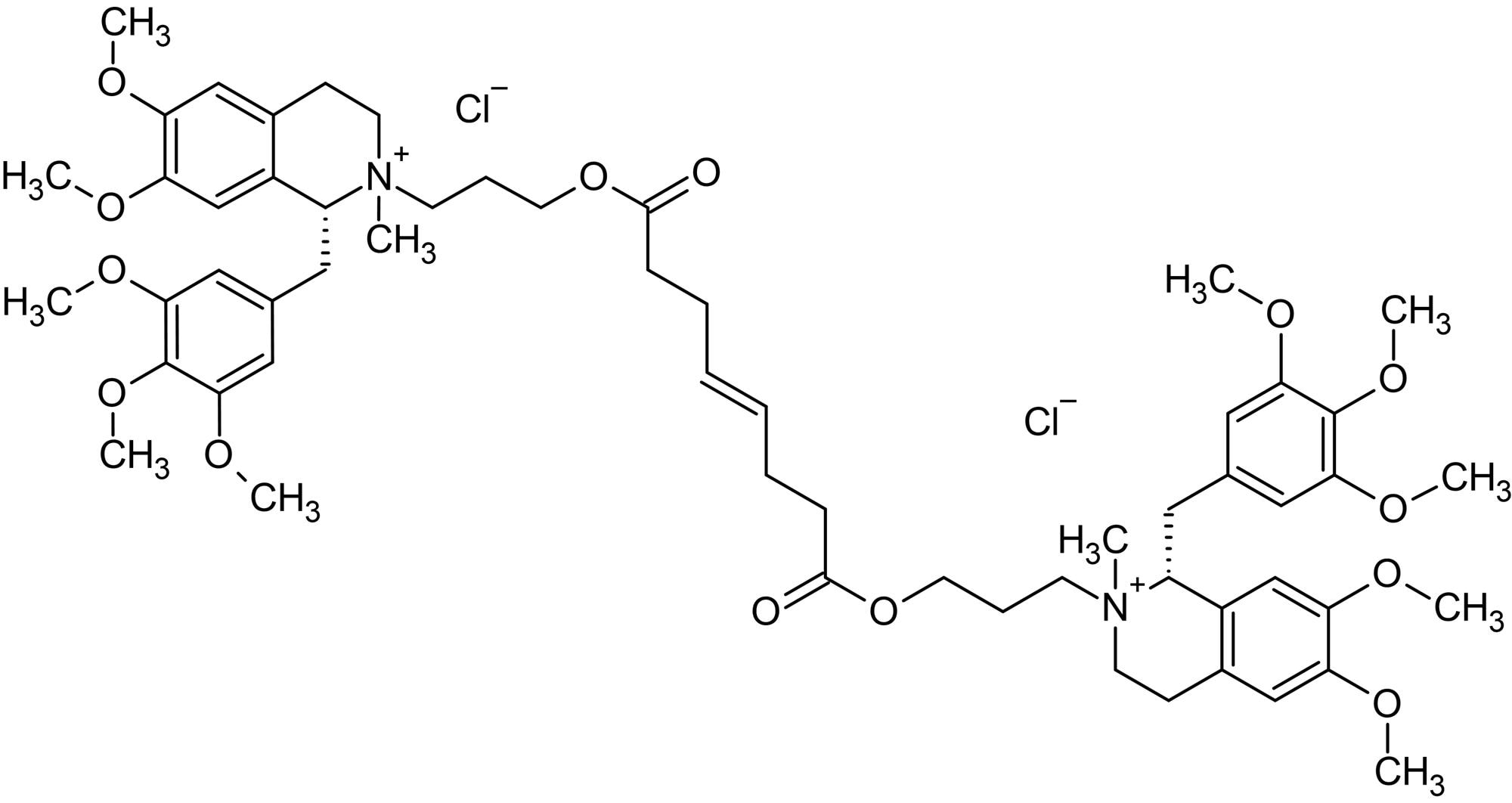 Chemical Structure - Mivacurium chloride, nicotinic acetylcholine antagonist (ab143667)