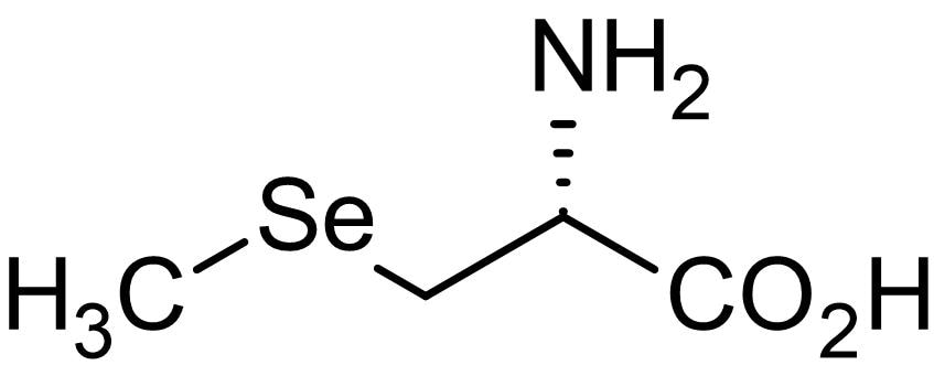 Chemical Structure - Se-(Methyl)seleno-L-cysteine (Se-methylselenocysteine), Seleno-amino acid (ab143695)