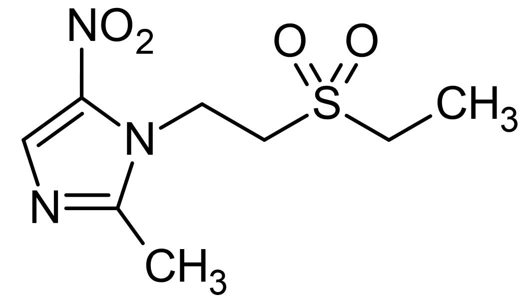 Chemical Structure - Tinidazole, Antiprotozoal agent (ab143721)
