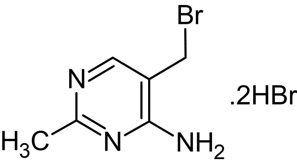 Chemical Structure - 4-Amino-5-(bromomethyl)-2-methylpyrimidine dihydrobromide, GRK inhibitor (ab143752)