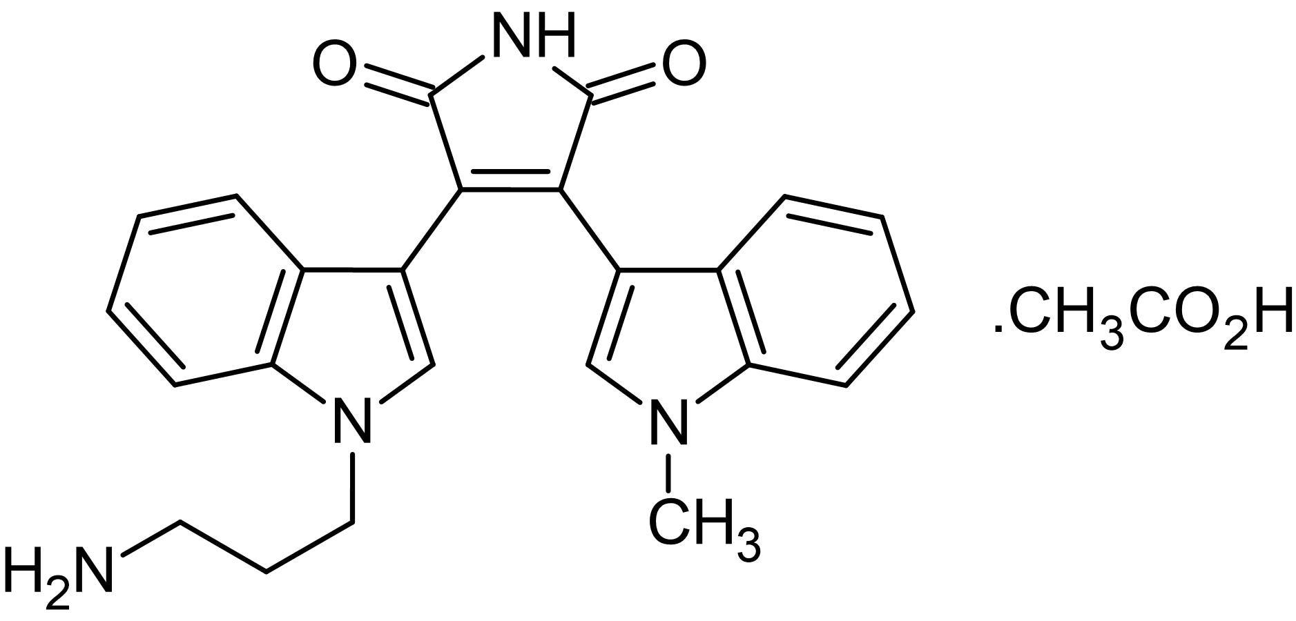 Chemical Structure - Bisindolylmaleimide VIII acetate, PKC inhibitor (ab143782)