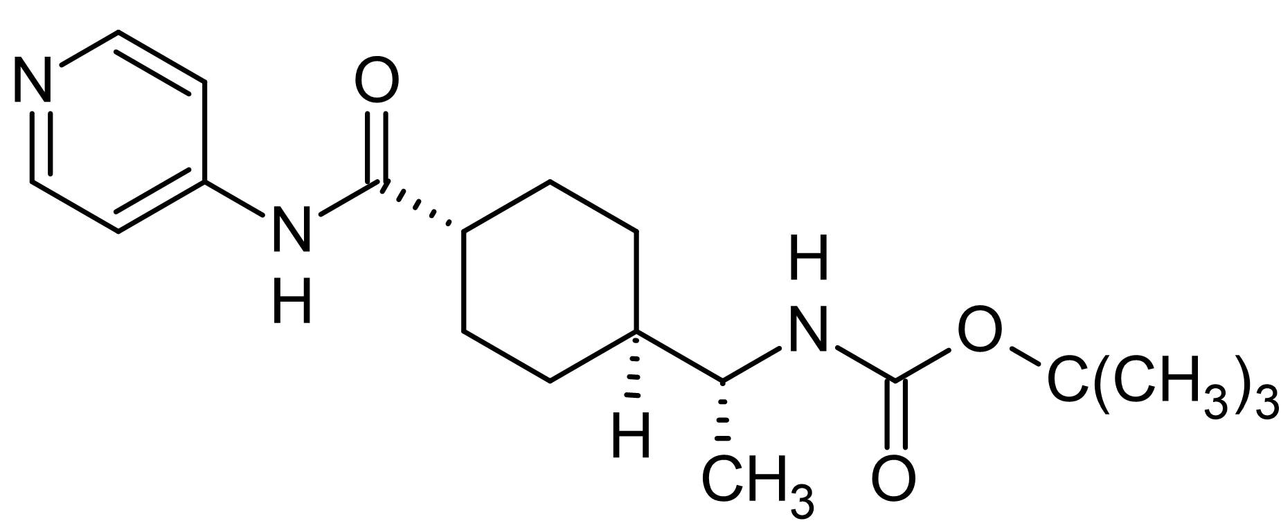 Chemical Structure - N-Boc-Y-27632, Rho kinase (ROCK) inhibitor (ab143784)