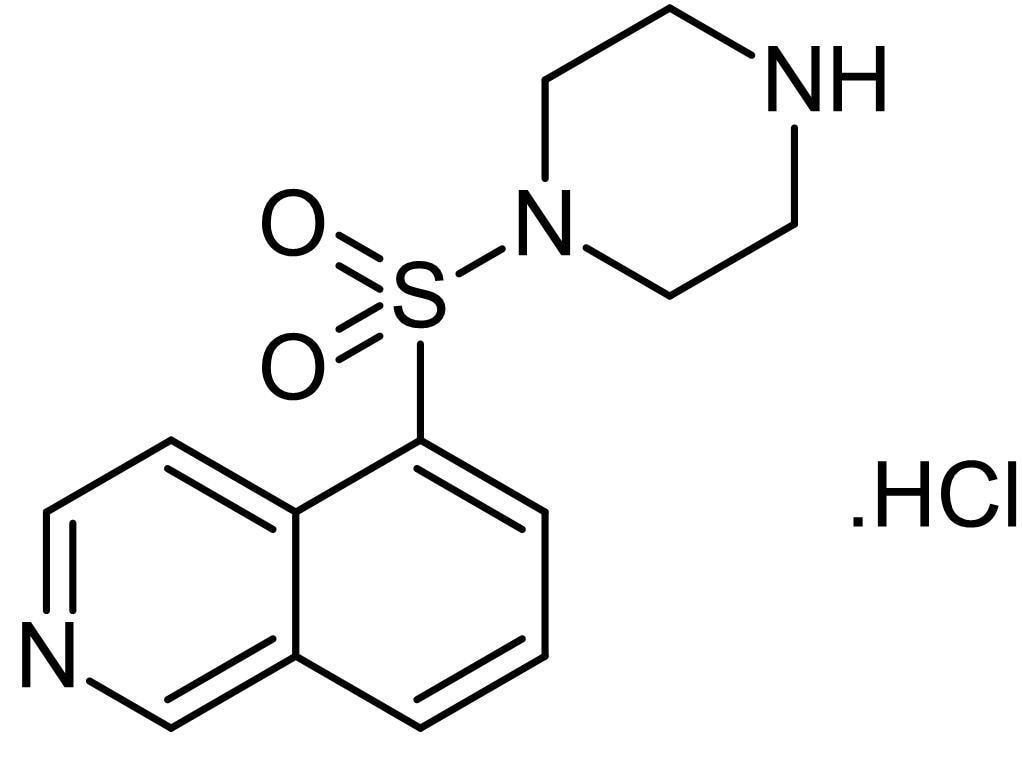 Chemical Structure - 1-(5-Isoquinolinesulfonyl)piperazine hydrochloride, PKC inhibitor (ab143831)