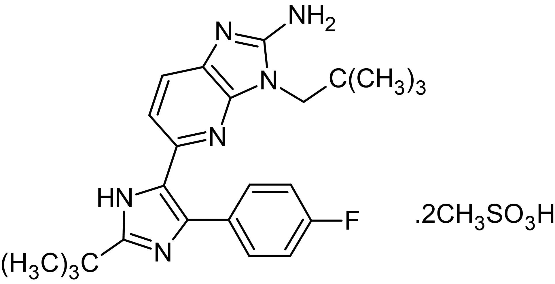 Chemical Structure - LY 2228820, p38 MAPK inhibitor (ab143833)