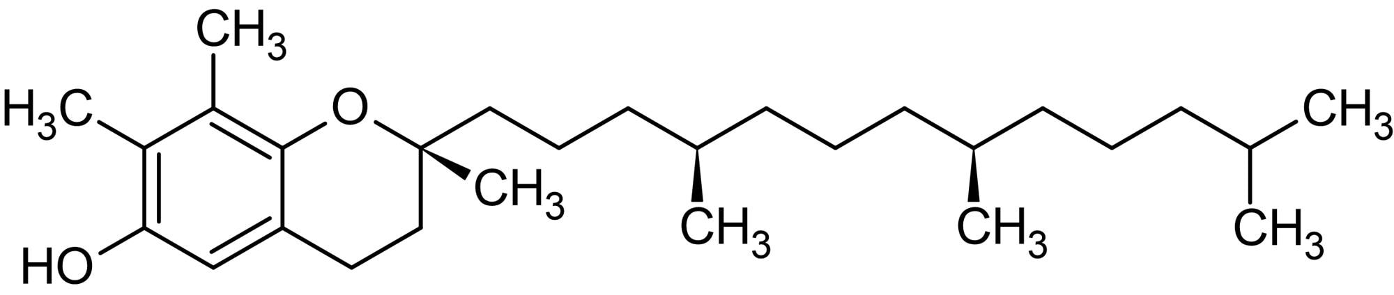 Chemical Structure - rac-gamma-Tocopherol (gamma-Tocopherol), Vitamin E isoform (ab143878)