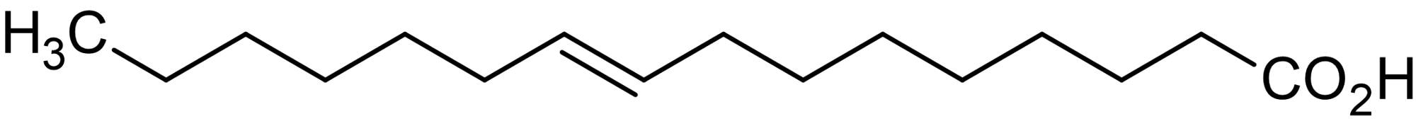 Chemical Structure - trans-9-Hexadecenoic acid, Monounsaturated fatty acid (ab143884)