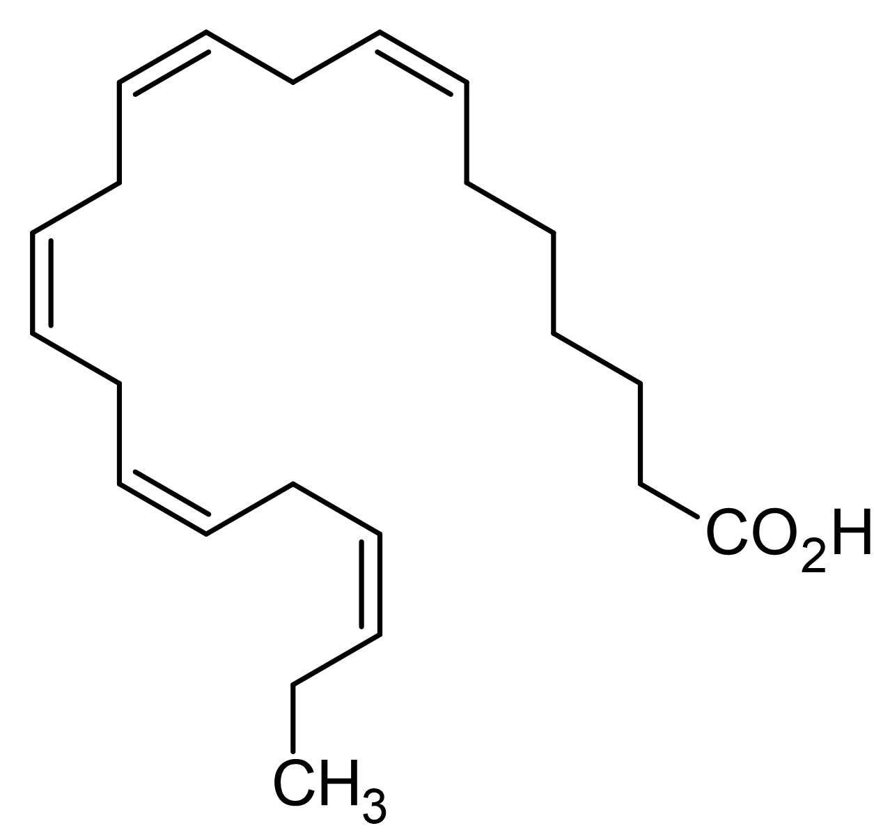 Chemical Structure - all-cis-7,10,13,16,19-Docosapentaenoic acid, Long chain polyunsaturated fatty acid (ab143894)