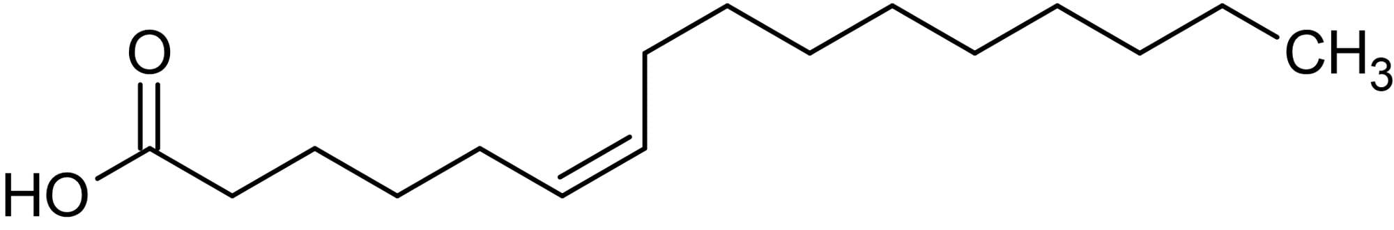 Chemical Structure - cis-6-Hexadecenoic acid, Monounsaturated fatty acid (ab143911)