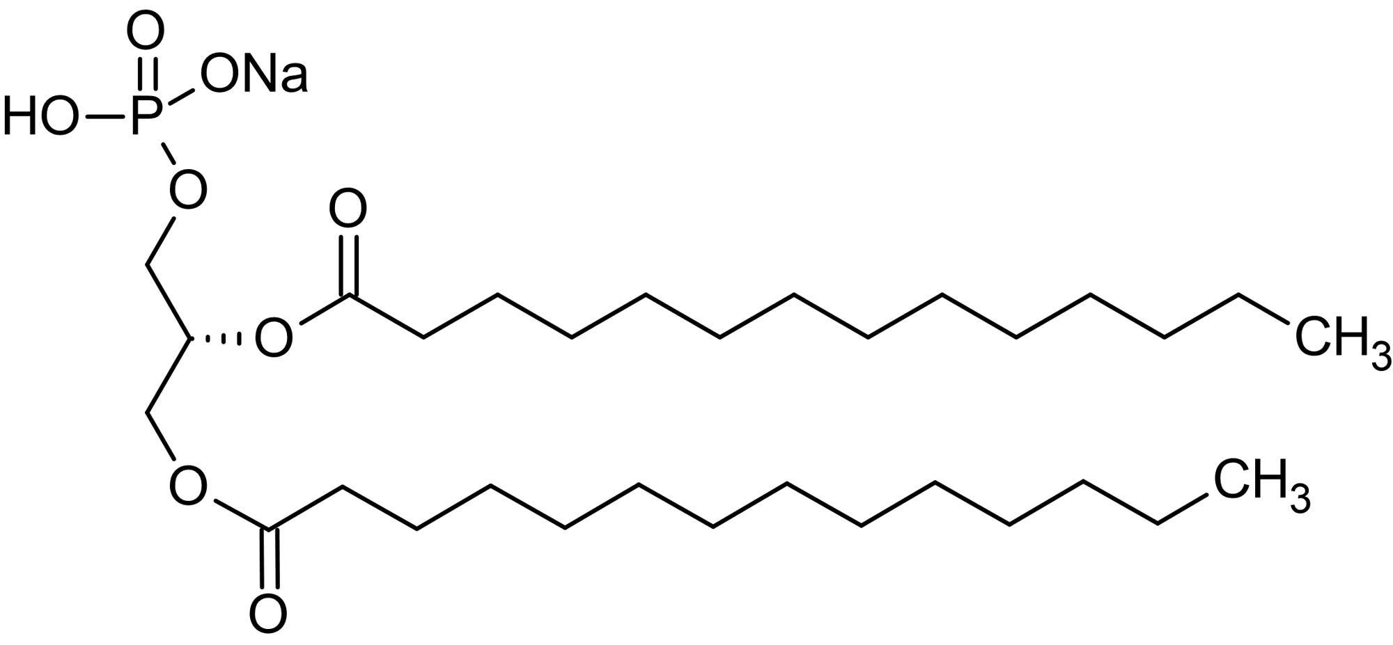 Chemical Structure - 1,2-Dimyristoyl-sn-glycero-3-phosphatidic acid sodium salt (DMPA), Phosphatidic acid (ab143949)