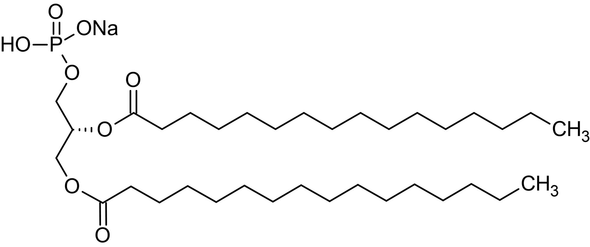 Chemical Structure - 1,2-Dipalmitoyl-sn-glycero-3-phosphatidic acid sodium salt (DPPA), Phospholipid (ab143950)