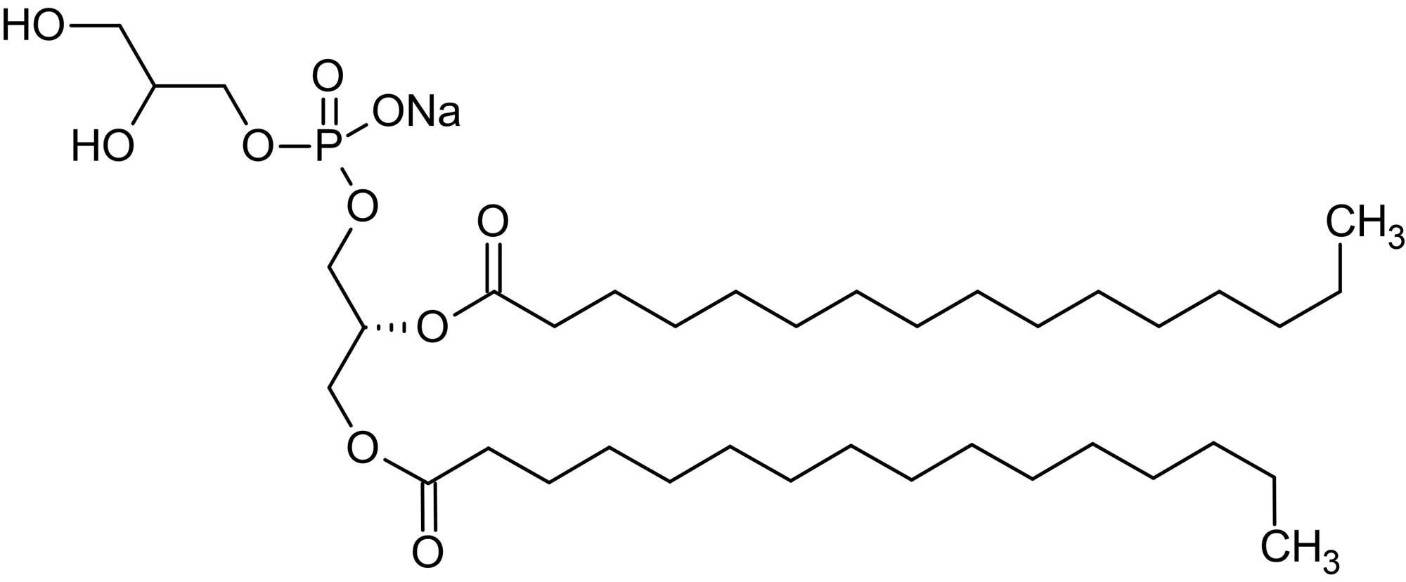 Chemical Structure - 1,2-Dipalmitoyl-sn-glycero-3-phosphorylglycerol sodium salt (DPPG), Phosphorylglycerol (ab143953)