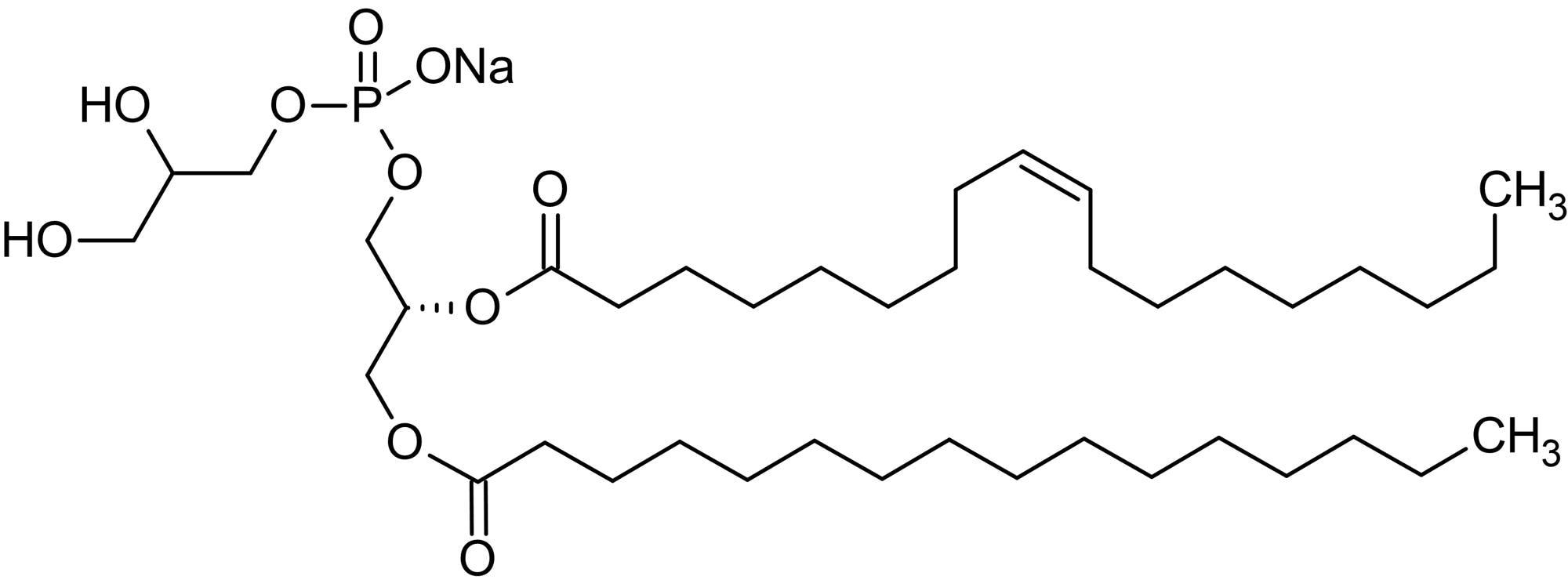 Chemical Structure - 1-Palmitoyl-2-oleoyl-sn-glycero-3-phosphorylglycerol sodium salt, Phosphatidylglycerol component (ab143959)