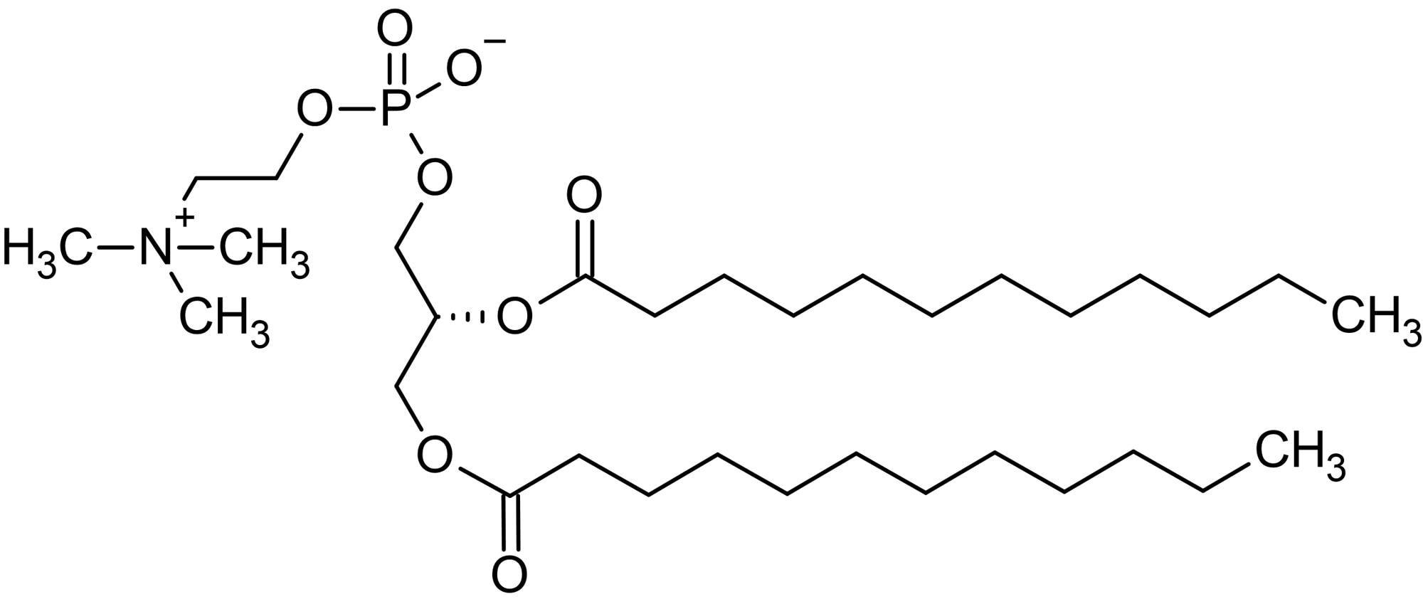 Chemical Structure - 1,2-Dilauroyl-sn-glycero-3-phosphorylcholine (DLPC), Phosphatidylcholine (ab143960)