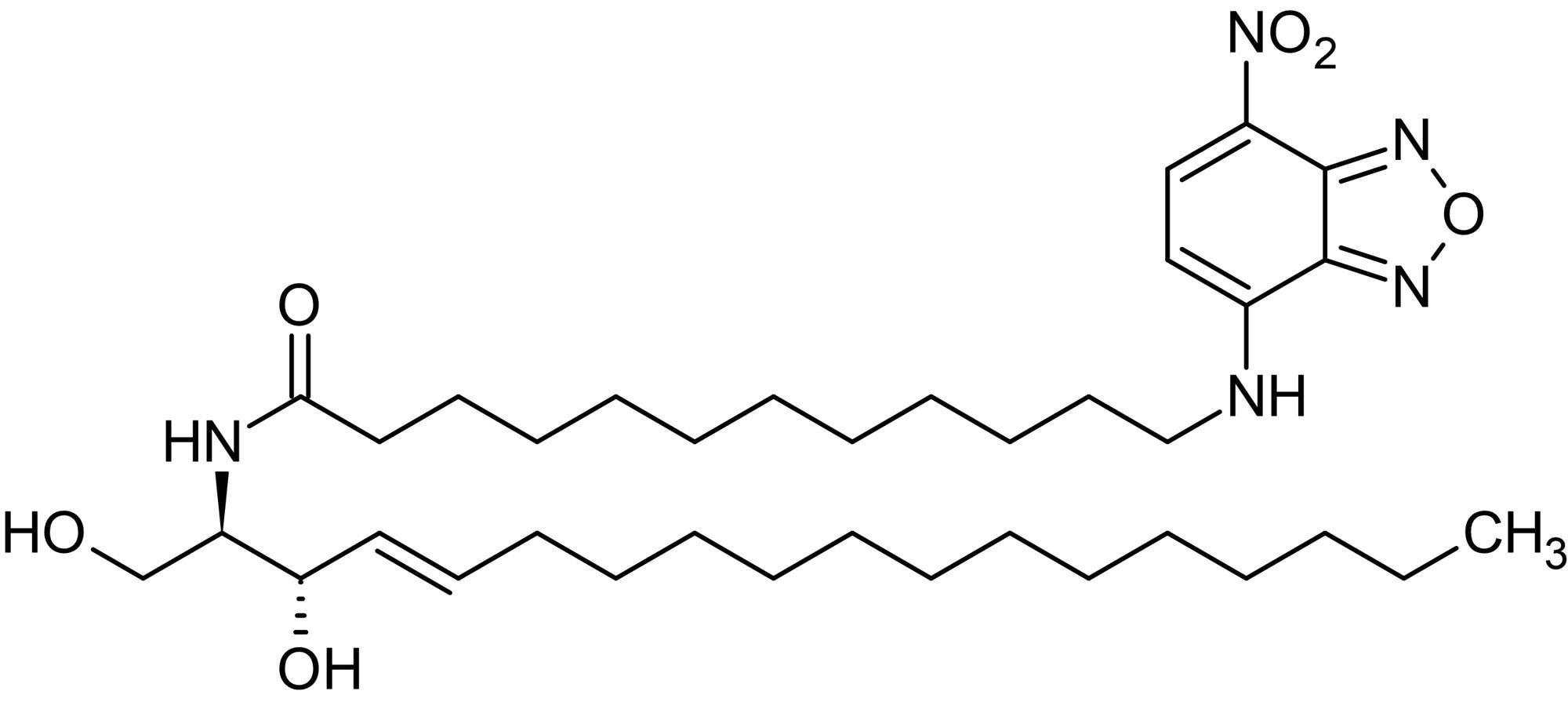 Chemical Structure - N-Dodecanoyl-NBD-D-erythro-sphingosine, Fluorescent C12:0-sphingosine ceramide analog (ab143985)