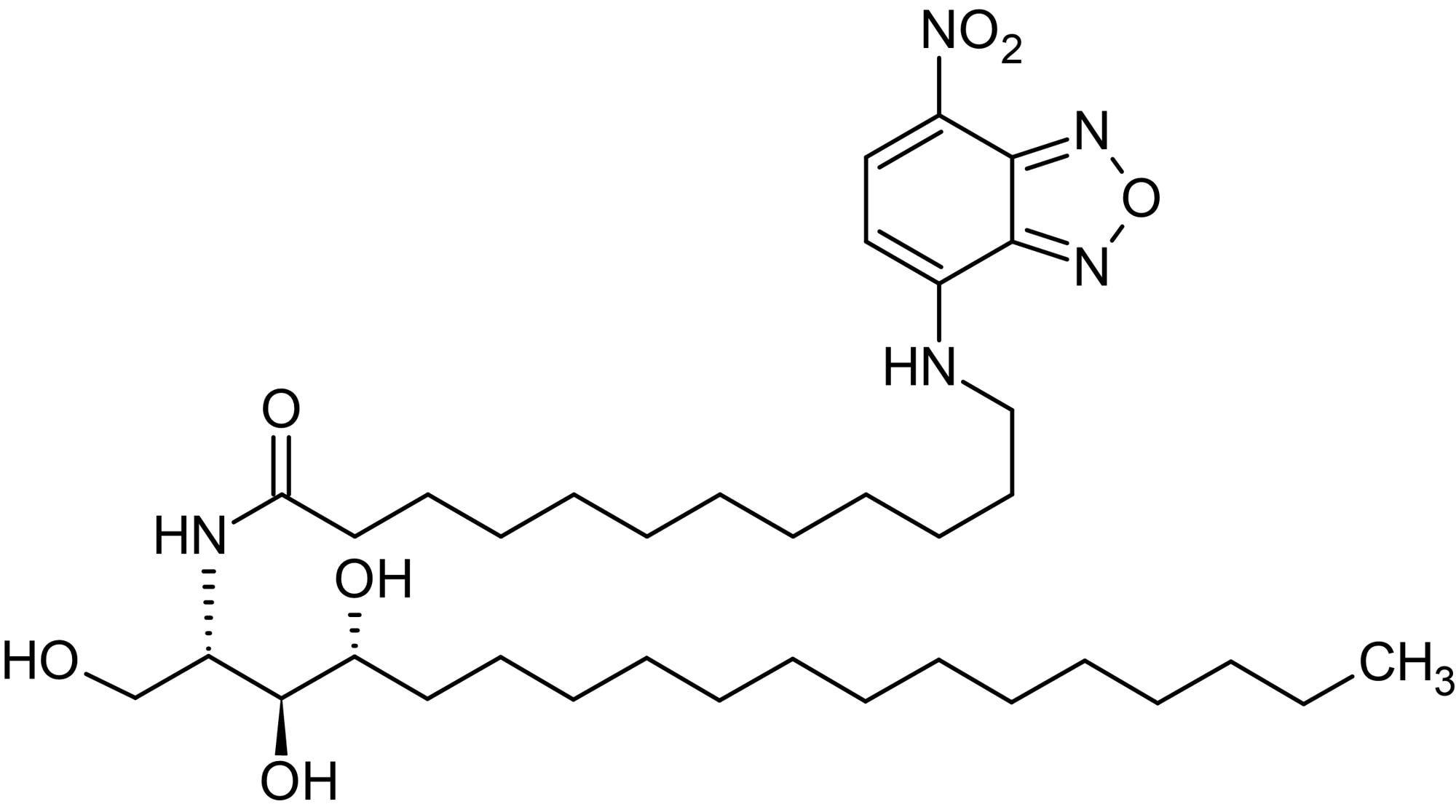 Chemical Structure - N-Dodecanoyl-NBD-phytosphingosine, Fluorescent C12:0-phytoceramide analog (ab143994)