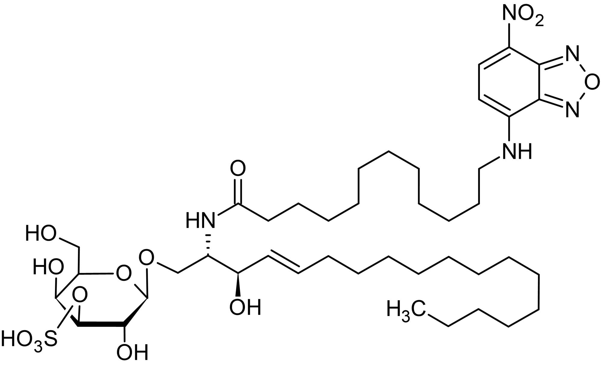 Chemical Structure - N-Dodecanoyl-NBD-sulfatide, Fluorescent C12:0-sulfatide analog (ab143999)
