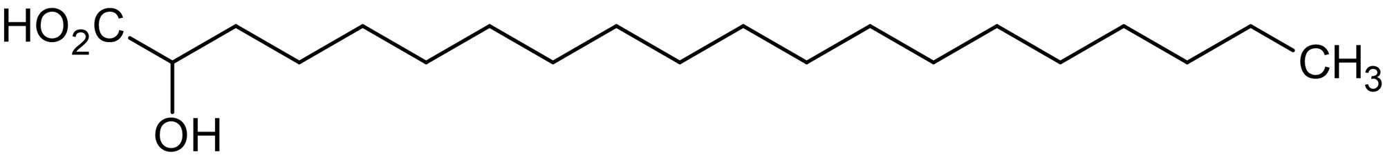 Chemical Structure - 2-Hydroxyeicosanoic acid, 2-Hydroxy C20:0 fatty acid (ab144012)