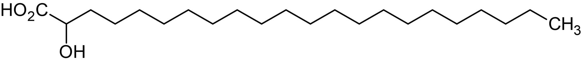 Chemical Structure - 2-Hydroxydocosanoic acid, 2-Hydroxy C22:0 fatty acid (ab144014)
