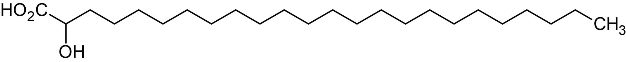 Chemical Structure - 2-Hydroxytetracosanoic acid, 2-Hydroxy C24:0 fatty acid (ab144018)