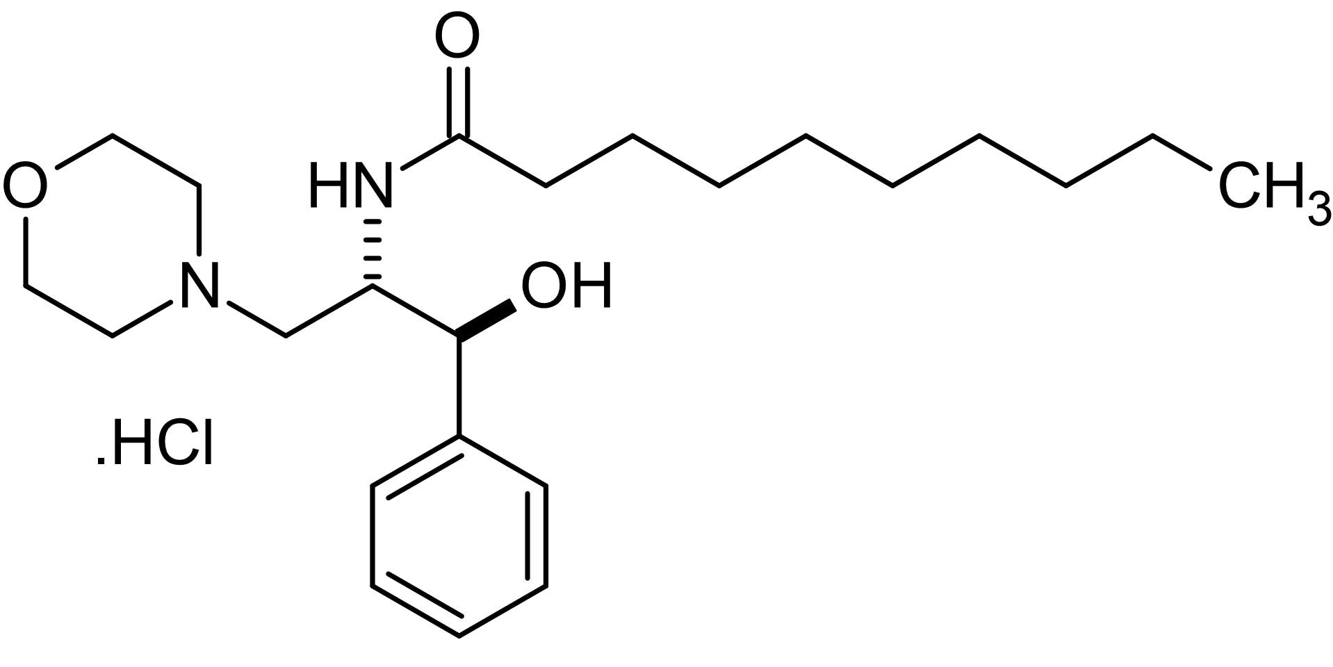 Chemical Structure - D,L-threo-PDMP, Glucosylceramide synthase inhibitor (ab144022)