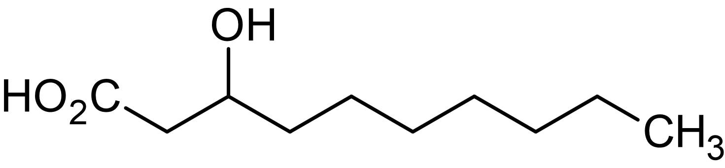 Chemical Structure - 3-Hydroxydecanoic acid, 3-Hydroxy C10:0 fatty acid (ab144026)