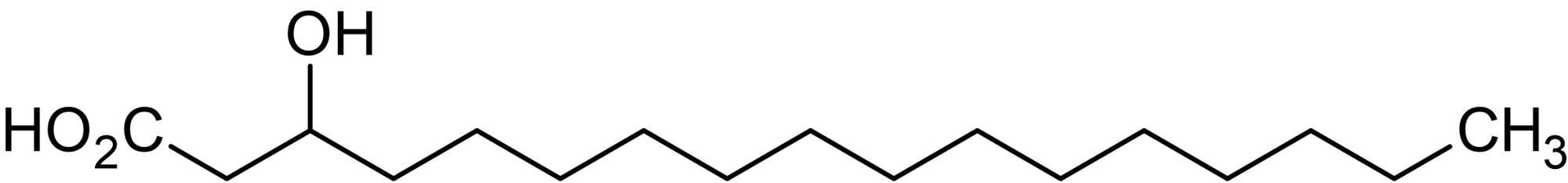 Chemical Structure - 3-Hydroxyheptadecanoic acid, 3-Hydroxy C17:0 fatty acid (ab144038)