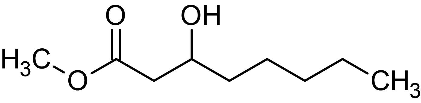 Chemical Structure - Methyl 3-hydroxyoctanoate, 3-Hydroxyoctanoic acid derivative (ab144043)