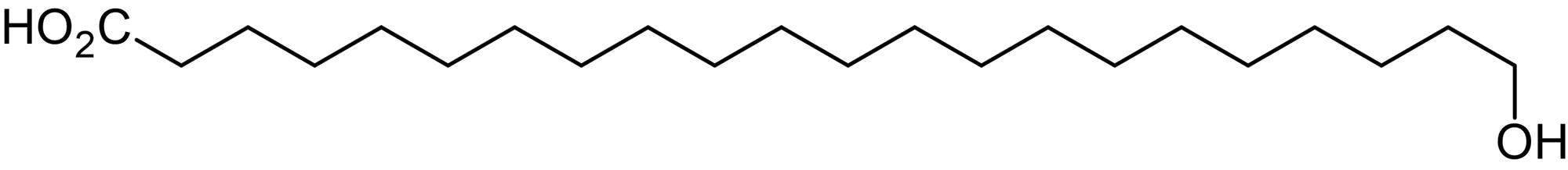 Chemical Structure - 22-Hydroxydocosanoic acid (Omega-Hydroxybehenic acid), omega-Hydroxy C22:0 fatty acid (ab144073)