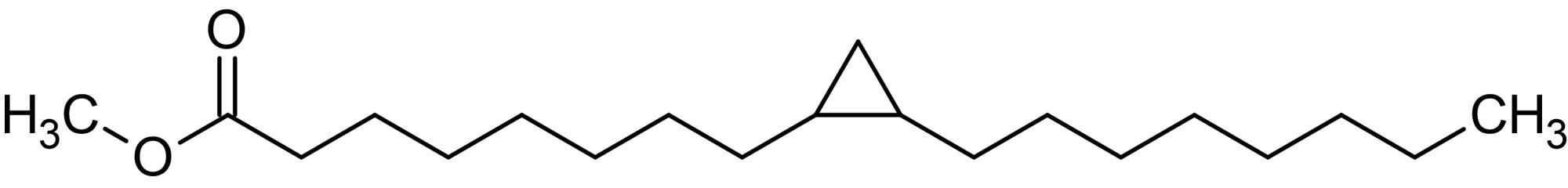 Chemical Structure - Methyl cis-9,10-methylene-octadecanoate (Methyl dihydrosterculate), Unsaturated fatty acid (ab144076)