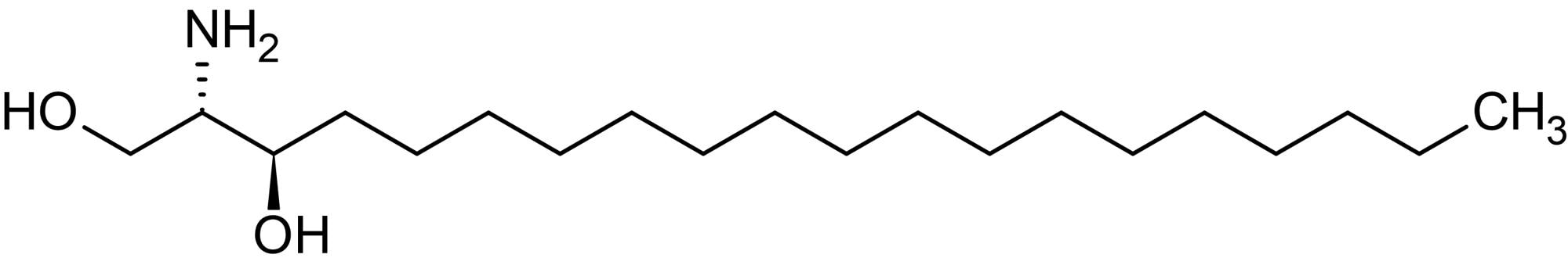 Chemical Structure - D-erythro-C20-Dihydrosphingosine, Ceramide biosynthesis intermediate (ab144093)