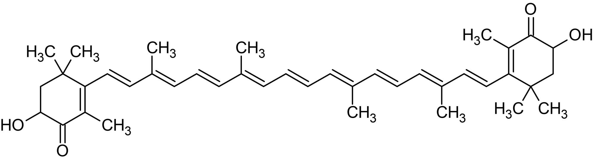 Chemical Structure - Astaxanthin, Antioxidant agent (ab144193)