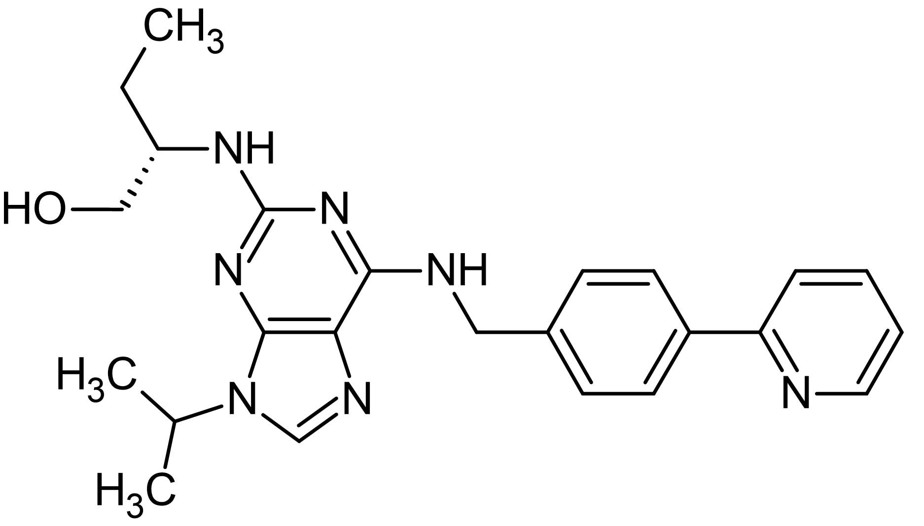 Chemical Structure - (S)-CR8, CDK 1, 2, 5, 7 and 9 inhibitor (ab144231)