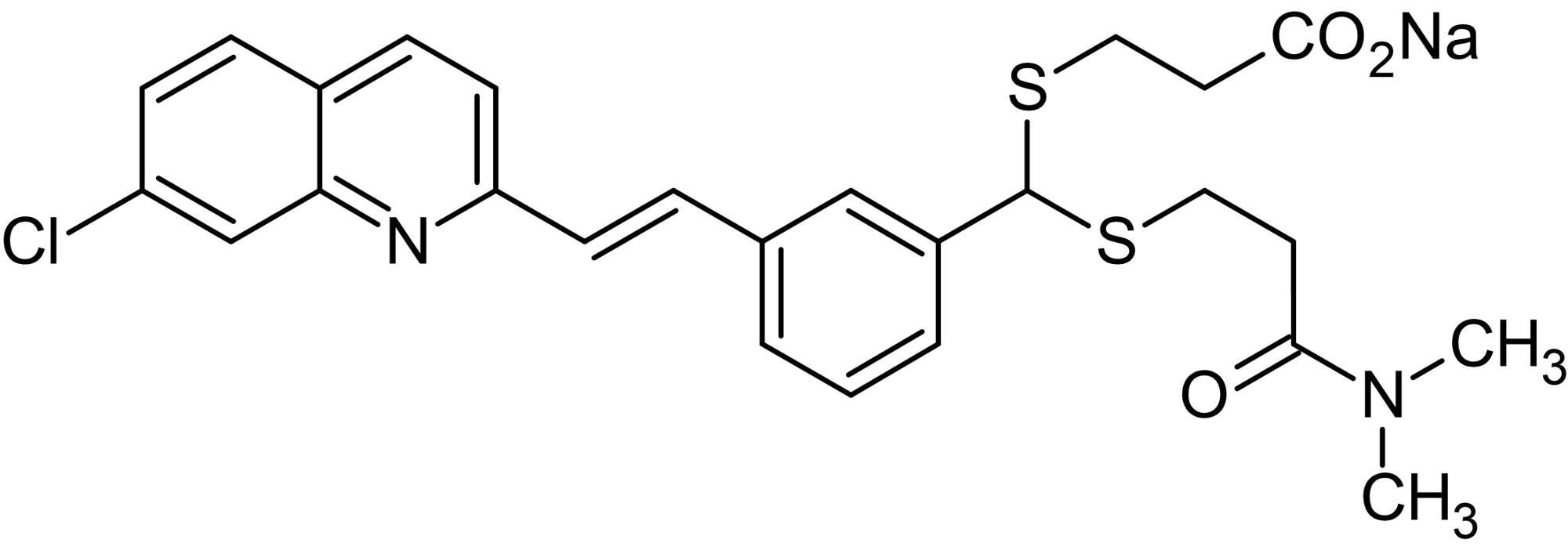 Chemical Structure - MK 571 sodium salt (L 660711 sodium salt), CysLT<sub>1</sub>&nbsp;receptor antagonist (ab144303)