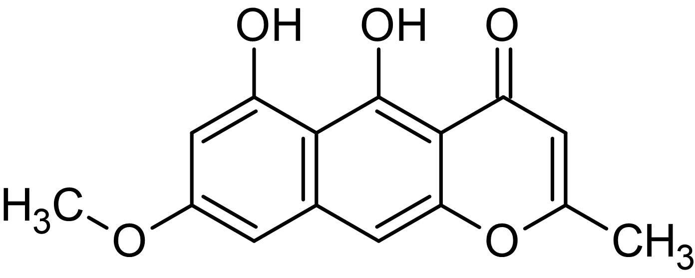 Chemical Structure - Rubrofusarin, tyrosinase inhibitor (ab144348)