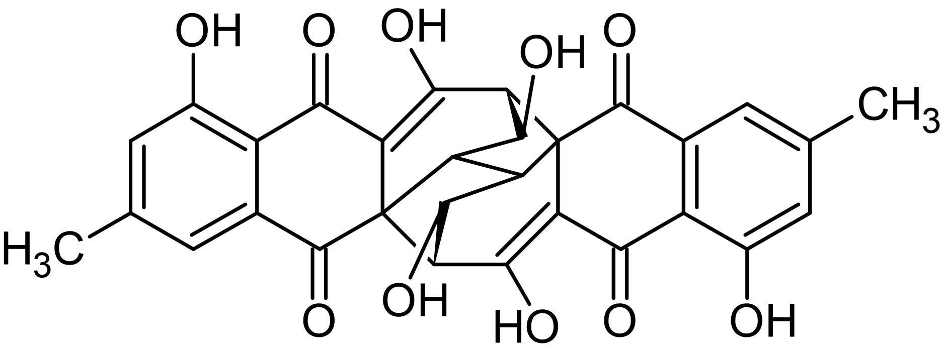 Chemical Structure - Rugulosin ((+)-Rugulosin), RNA polymerase inhibitor (ab144351)