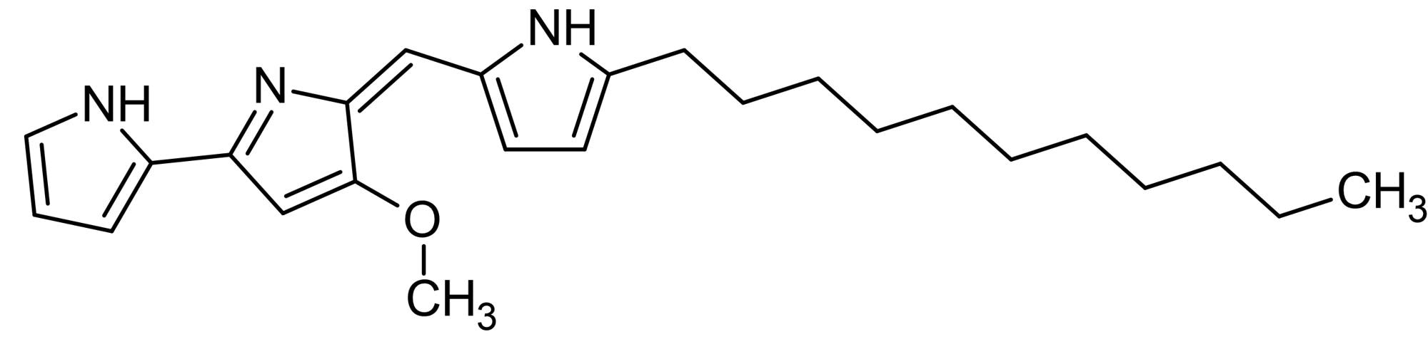 Chemical Structure - Undecylprodigiosin, Apoptotic and anticancer agent (ab144382)