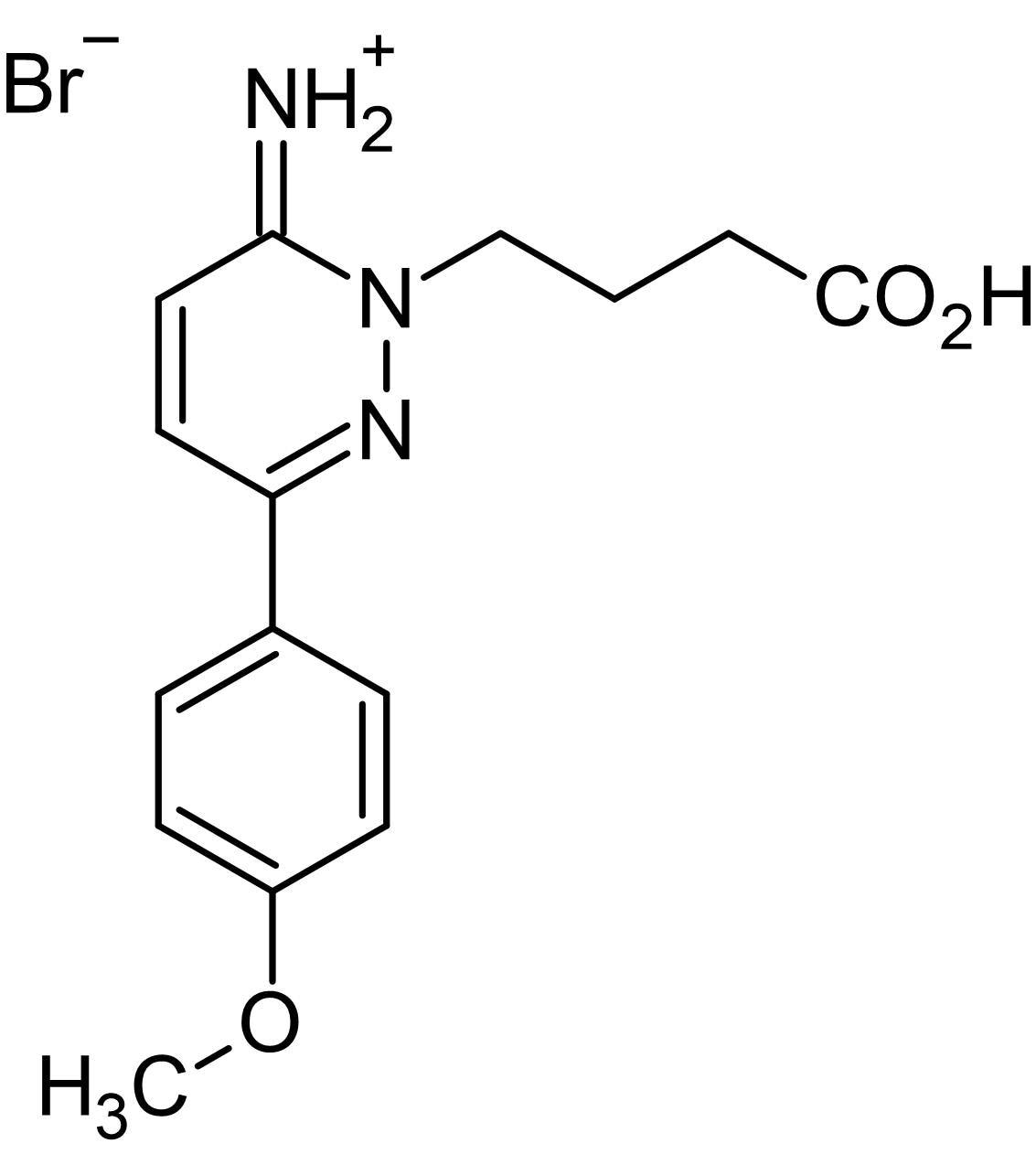 Chemical Structure - SR95531 (Gabazine) (mM/ml), GABA<sub>A</sub> antagonist (ab144487)