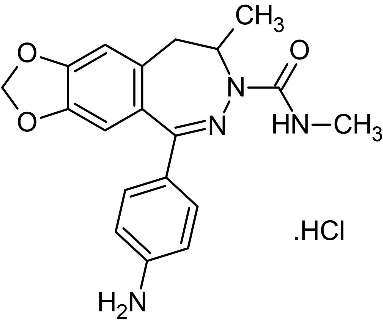 Chemical Structure - GYKI 53655 hydrochloride (mM/ml), AMPA / kainate receptor antagonist (ab144499)