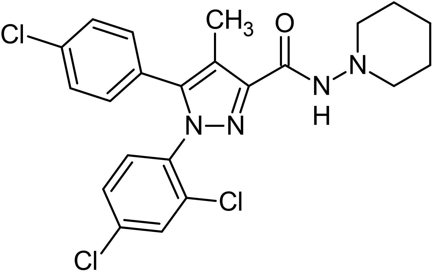 Chemical Structure - Rimonabant, cannabinoid CB<sub>1</sub> receptor antagonist/inverse agonist (ab144582)