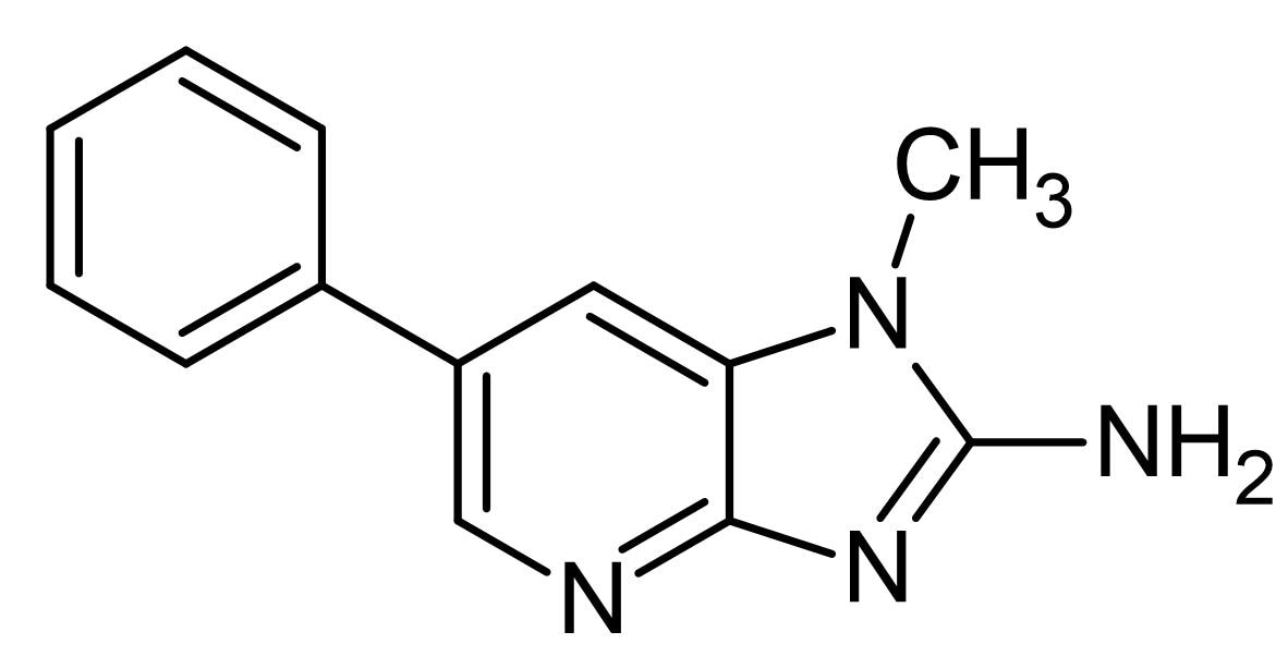 Chemical Structure - PhIP, Carcinogenic heterocyclic amine (ab144695)