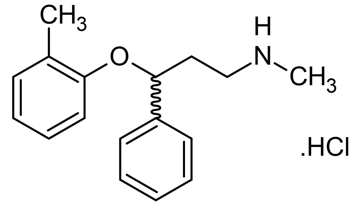 Chemical Structure - Atomoxetine Hydrochloride (Tomoxetine hydrochloride), norepinephrine reuptake inhibitor (ab144699)