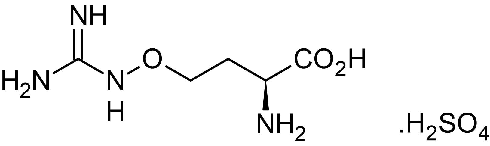 Chemical Structure - L-Canavanine sulfate, iNOS inhibitor (ab144723)