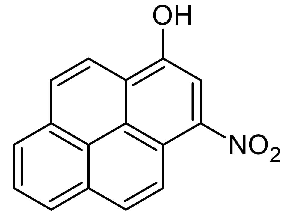 Chemical Structure - 3-Nitro-1-pyrenol (1-nitropyrene-3-ol), Mutagenic agent (ab144788)