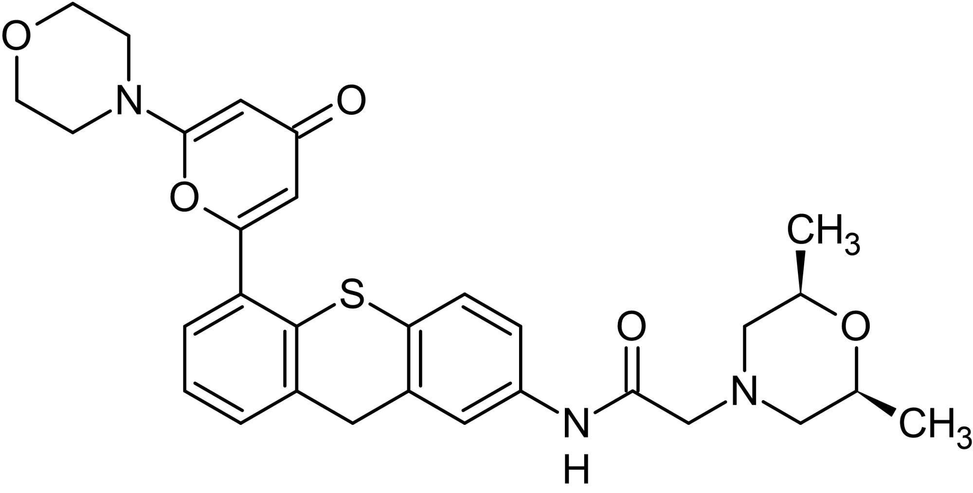 Chemical Structure - KU-60019, ATM kinase inhibitor (ab144817)