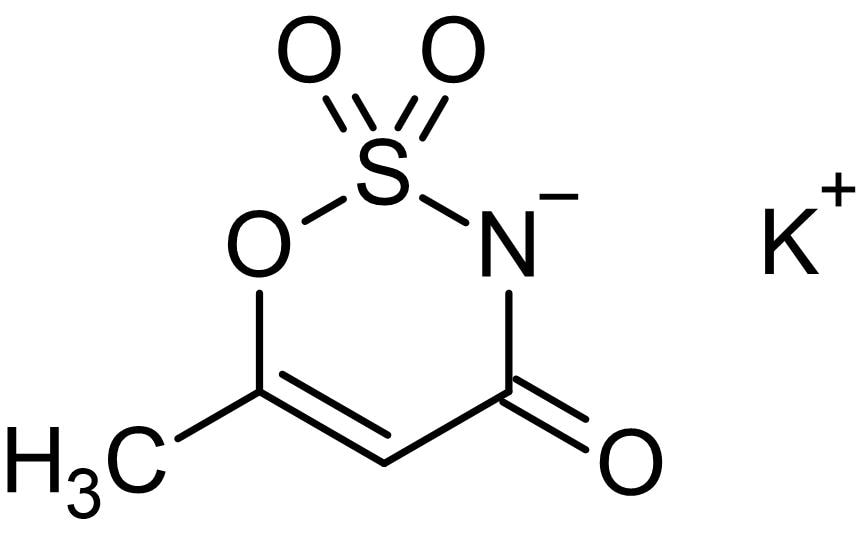 Chemical Structure - Acesulfame potassium, synthetic sweetener (ab144875)