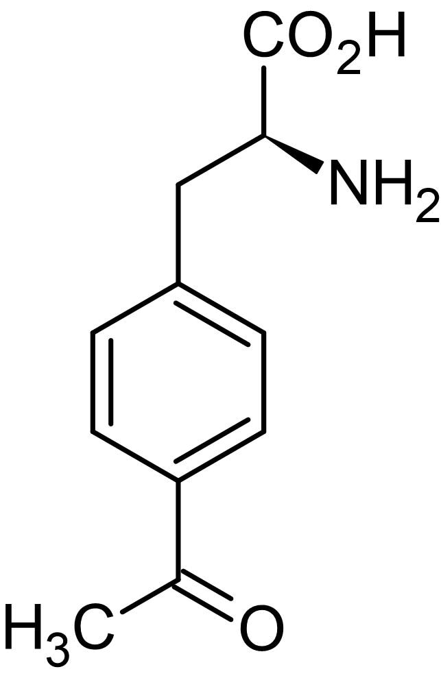 Chemical Structure - 4-Acetyl-L-phenylalanine hydrochloride, 4-Acetyl analog of L-phenylaniline (ab144886)
