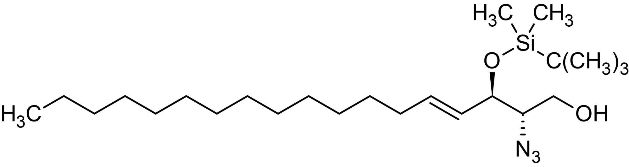 Chemical Structure - (2S,3R,4E)-2-Azido-3-(tert-butyldimethylsilyl)-erythro-sphingosine, Protein kinase C inhibitor (ab144921)