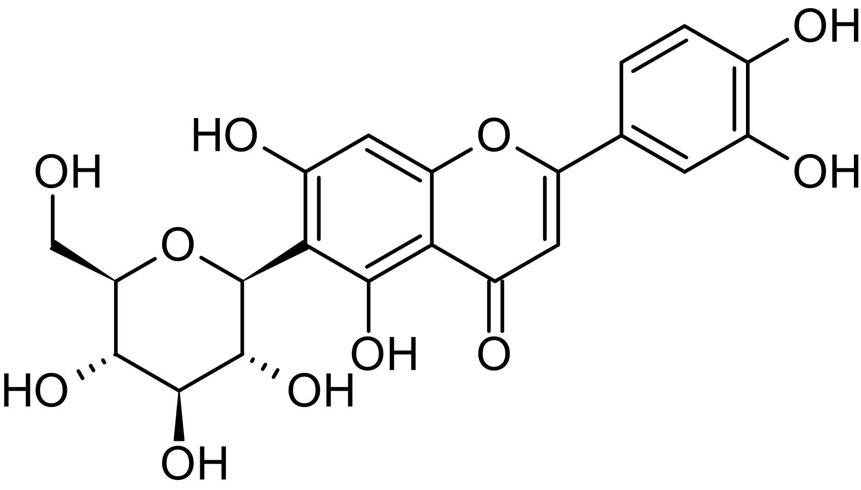 Chemical Structure - Isoorientin, Cyclooxygenase-2 inhibitor (ab145014)