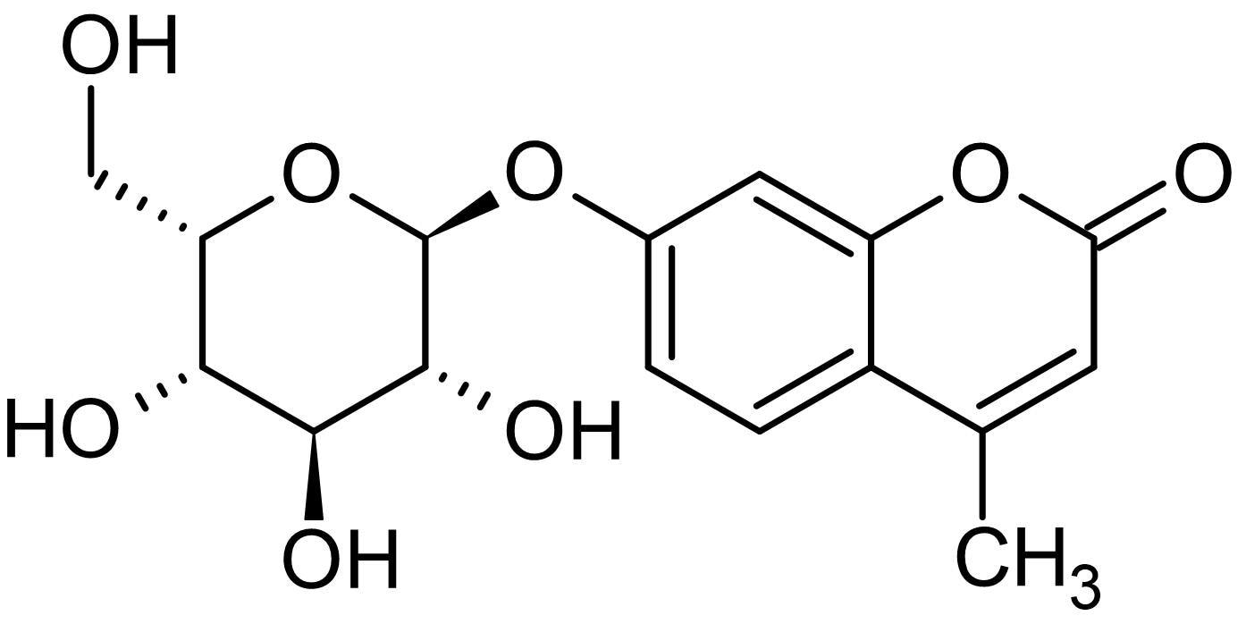 Chemical Structure - 4-Methylumbelliferyl alpha-L-idopyranoside, Fluorogenic alpha-L-iduronidase substrate (ab145022)
